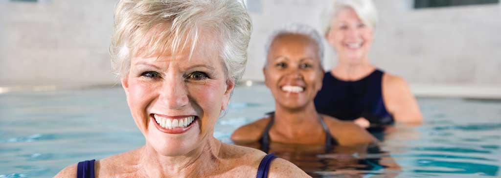 Adults in Swimming Pool